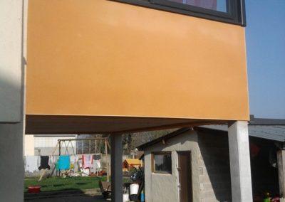 Réalisation d'une terrasse sur poteaux béton