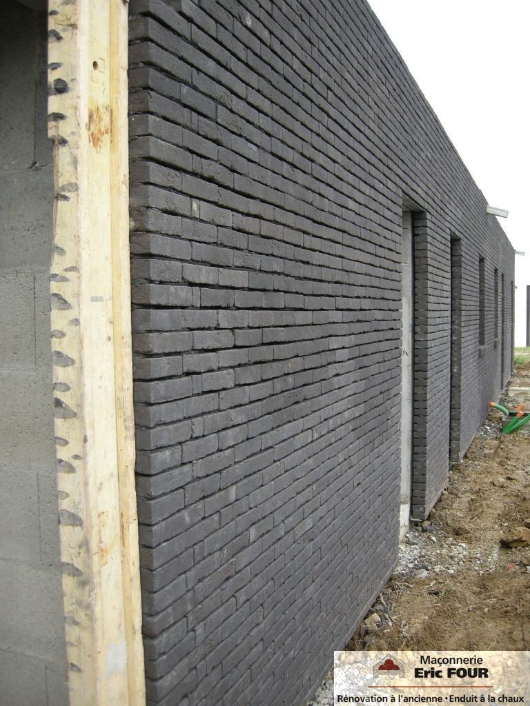 Ma onnerie joints vifs four maconnerie - Plaquette de brique pour facade ...