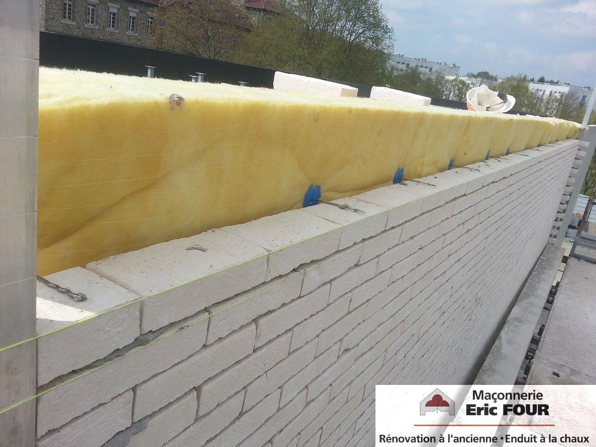 CHGR Joints vifs, pose isolant et maçonnerie de briques