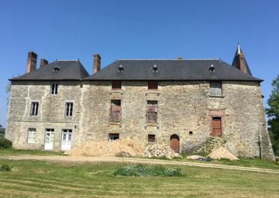 REALISATION FOUR MACONNERIE Manoir du Bertry FACADE AVANT ORIGINE