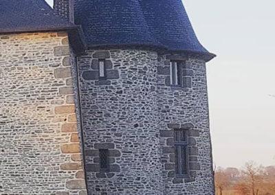 REALISATION FOUR MACONNERIE Manoir du Bertry TOURELLE APRES