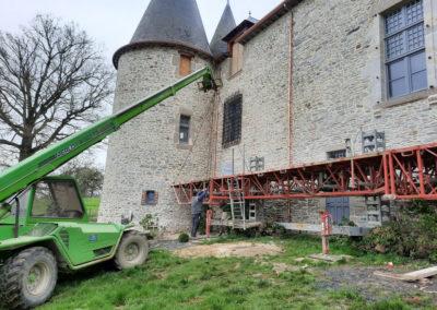 REALISATION FOUR MACONNERIE Manoir du Bertry TOURELLE ARRIERE APRES