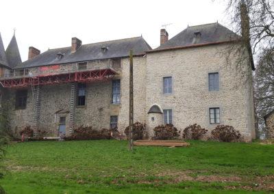 REALISATION FOUR MACONNERIE Manoir du Bertry FACADE ARRIERE EN COURS