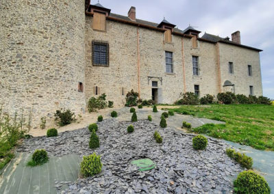 REALISATION FOUR MACONNERIE Manoir du Bertry FACADE ARRIERE APRES